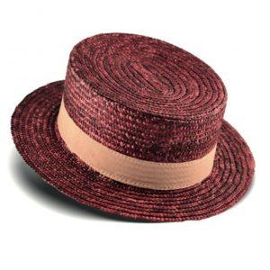 Red straw hat