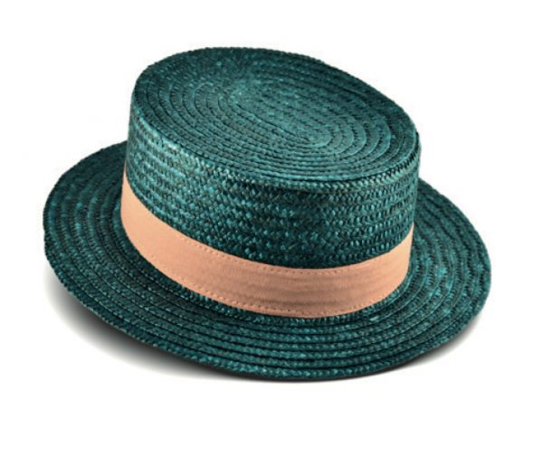 Green fashion straw hat
